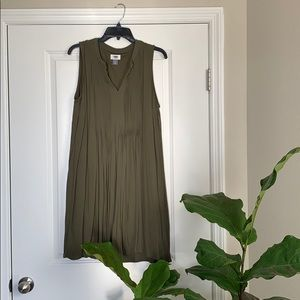 Old Navy Olive Green Swing Dress
